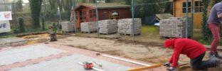 Bau Eisstockschießbahn Brake